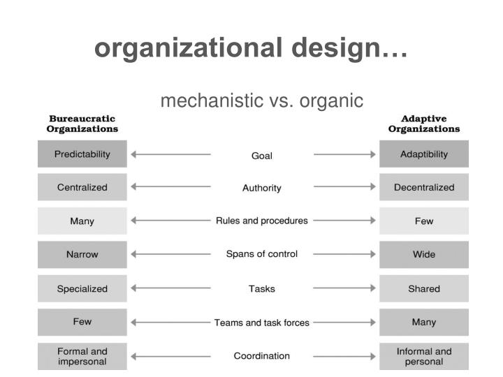 organizational design…