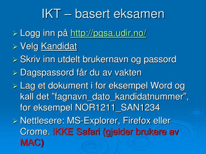 IKT – basert eksamen