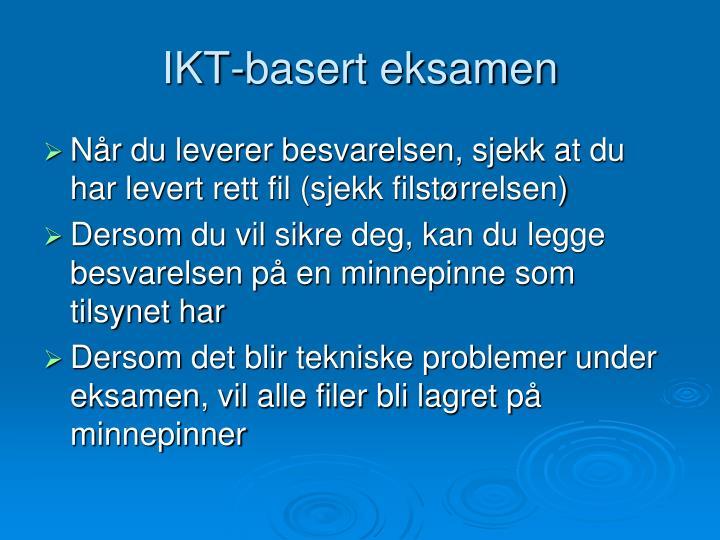 IKT-basert eksamen