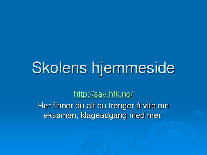 Skolens hjemmeside