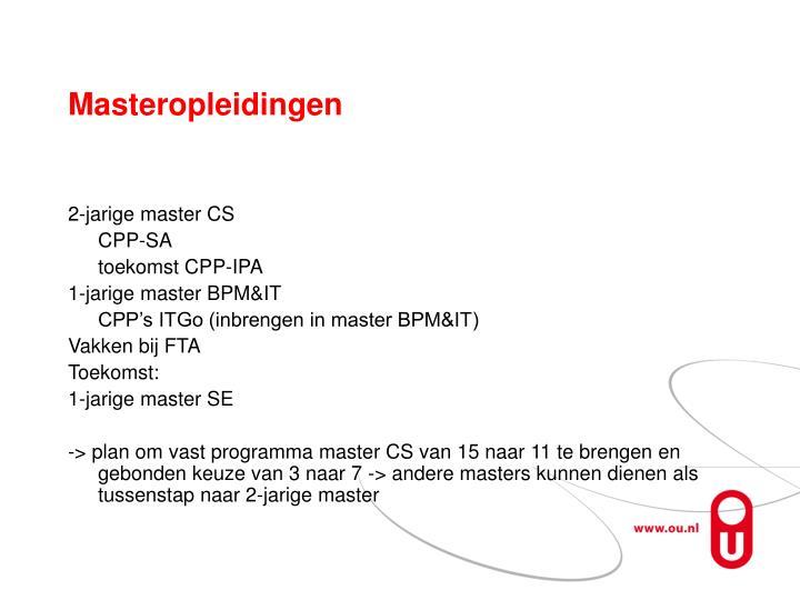 Masteropleidingen