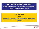 key responsibilities and functions of a strong efficient and competent vsb14