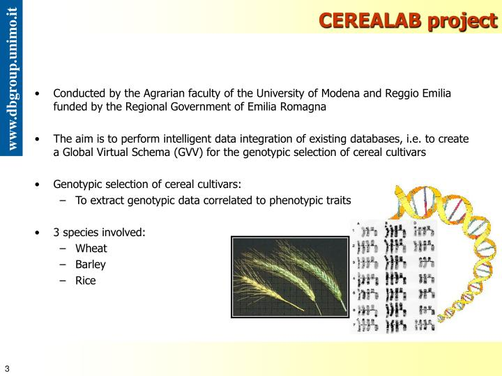 CEREALAB project