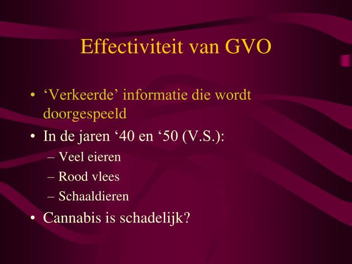 Effectiviteit van GVO