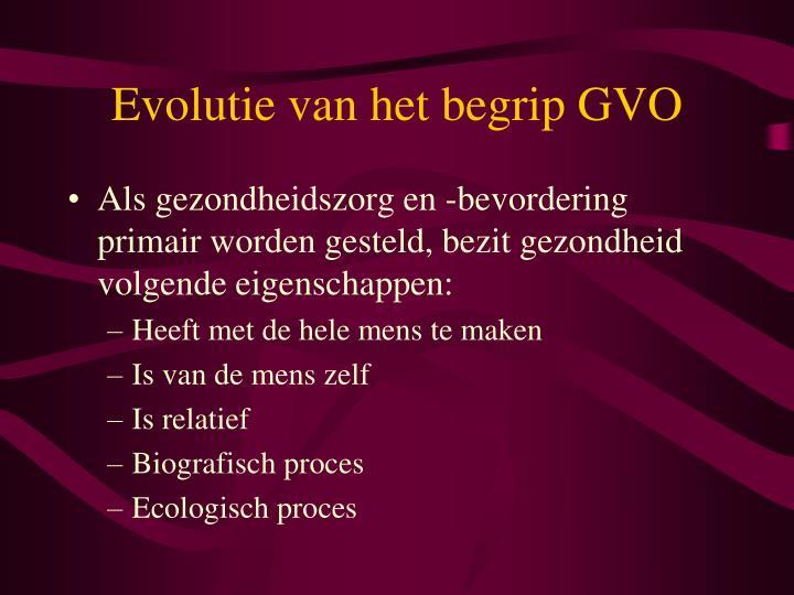 Evolutie van het begrip GVO