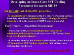 developing an inner core sst cooling parameter for use in ships