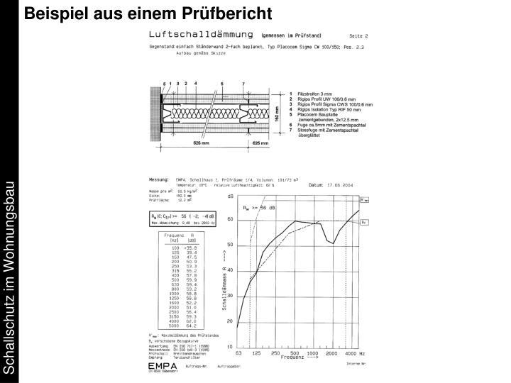 Beispiel aus einem Prüfbericht