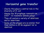 horizontal gene transfer