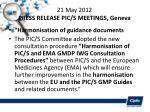 21 may 2012 press release pic s meetings geneva