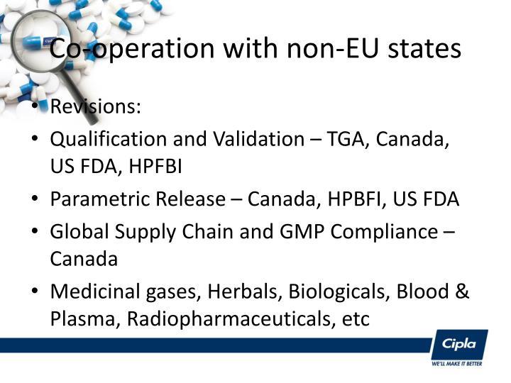 Co-operation with non-EU states