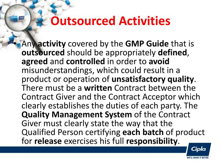 Outsourced Activities