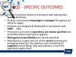 pqs specific outcomes