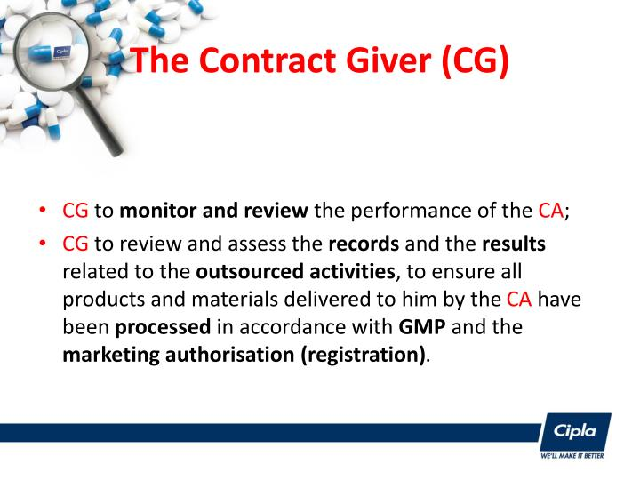 The Contract Giver (CG)