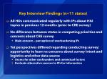 key interview findings n 11 states