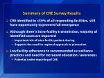 summary of cre survey results