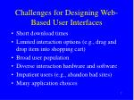 challenges for designing web based user interfaces