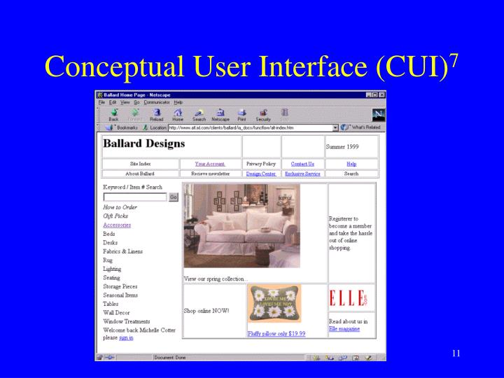 Conceptual User Interface (CUI)