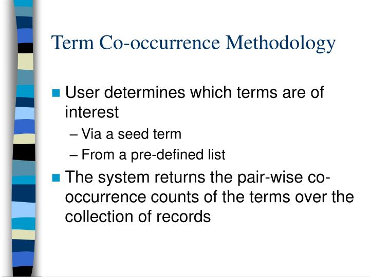 Term Co-occurrence Methodology