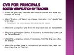 cvr for principals roster verification by teacher