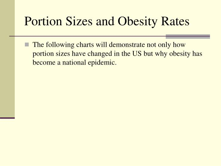 Portion Sizes and Obesity Rates