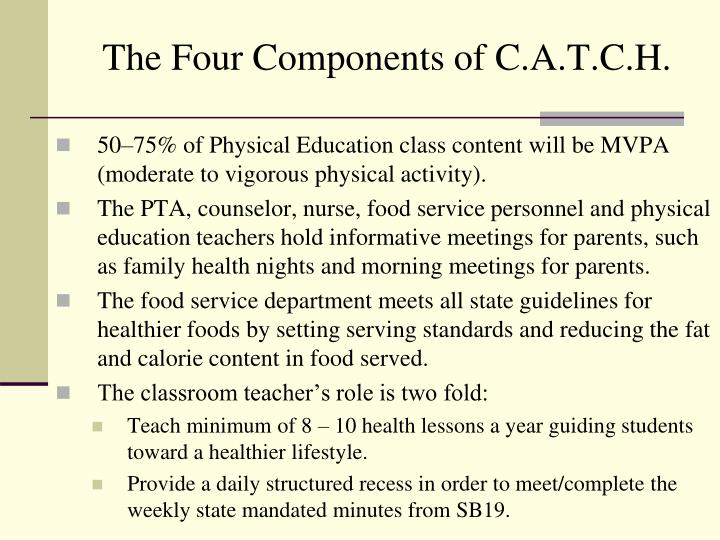 The Four Components of C.A.T.C.H.