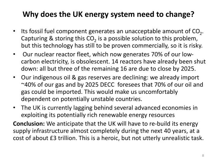 Why does the UK energy system need to change?
