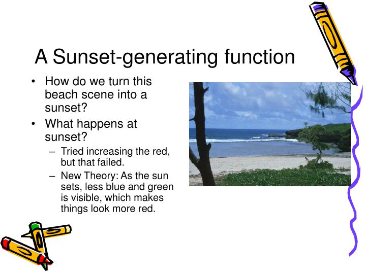 A Sunset-generating function