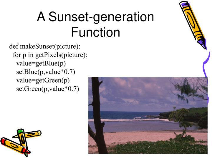 A Sunset-generation Function