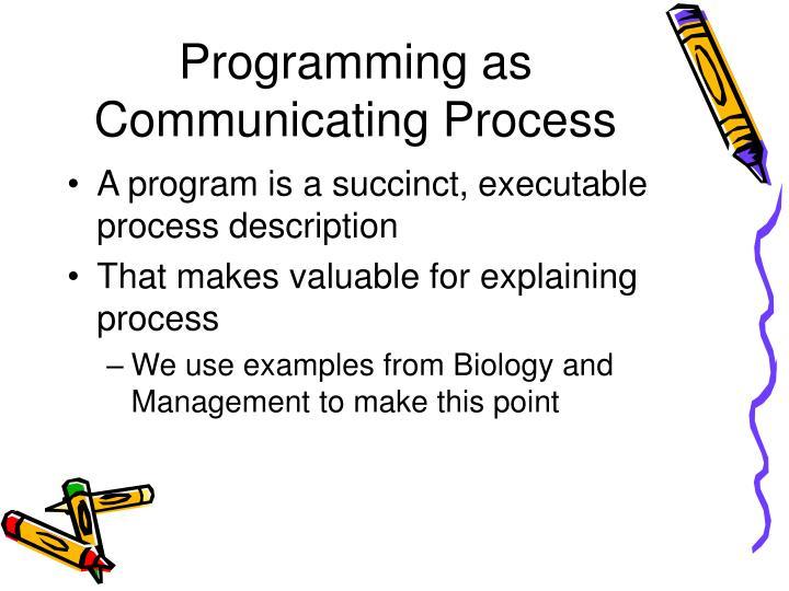 Programming as Communicating Process