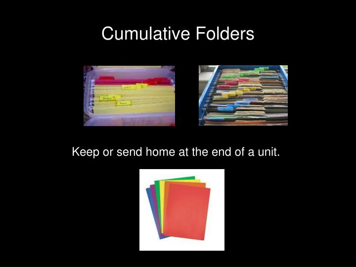 Cumulative Folders