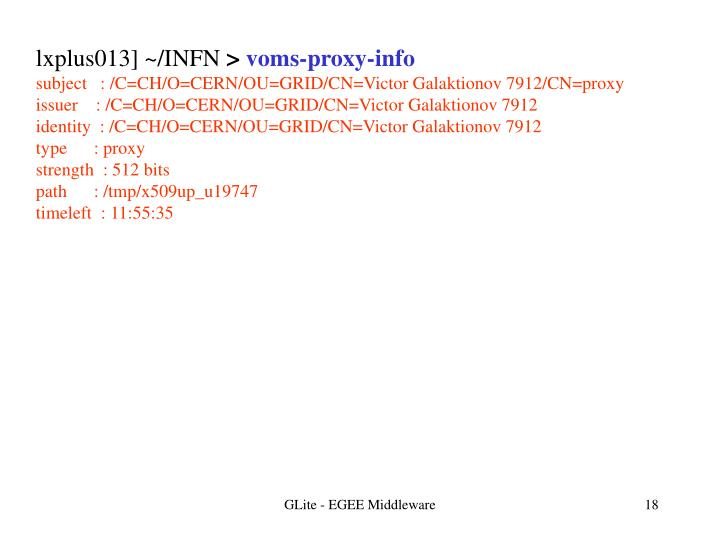 lxplus013] ~/INFN