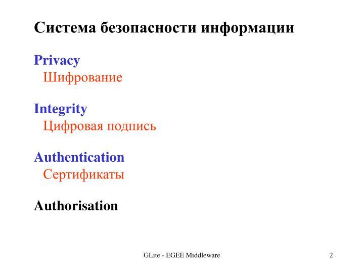 Система безопасности информации