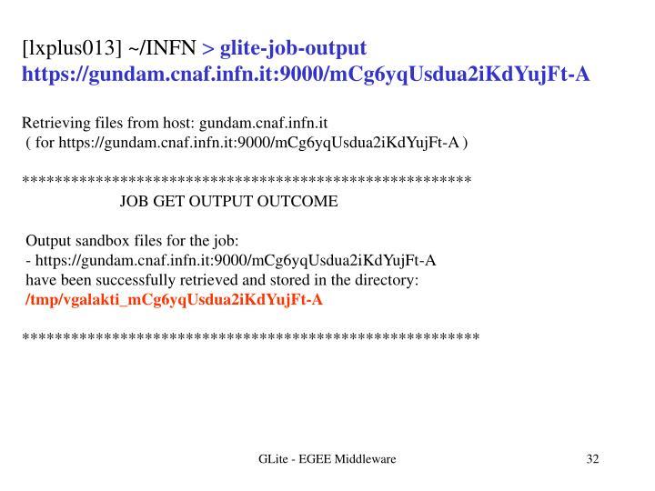[lxplus013] ~/INFN