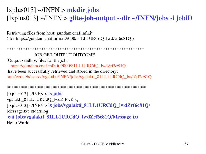 lxplus013] ~/INFN >