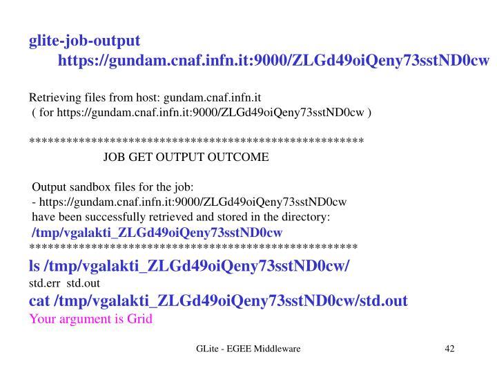 glite-job-output