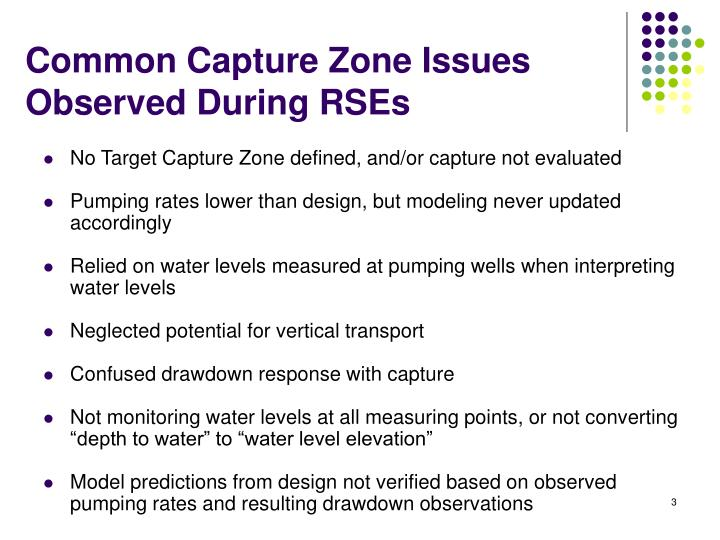Common Capture Zone Issues Observed During RSEs