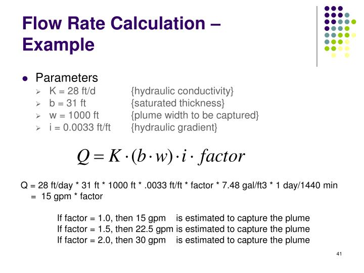 Flow Rate Calculation –