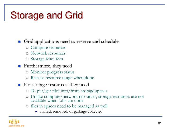 Storage and Grid