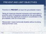 prevent and limit objectives1
