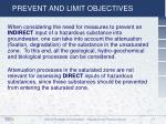 prevent and limit objectives2