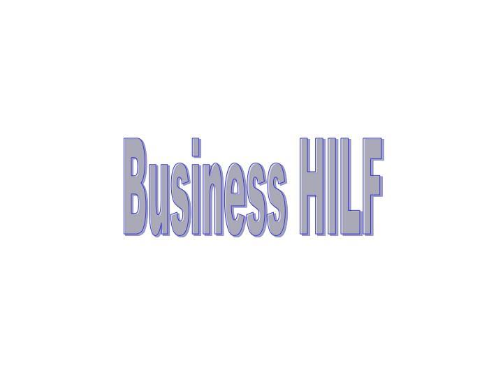 Business HILF
