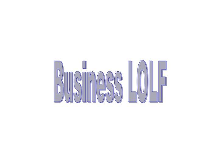 Business LOLF