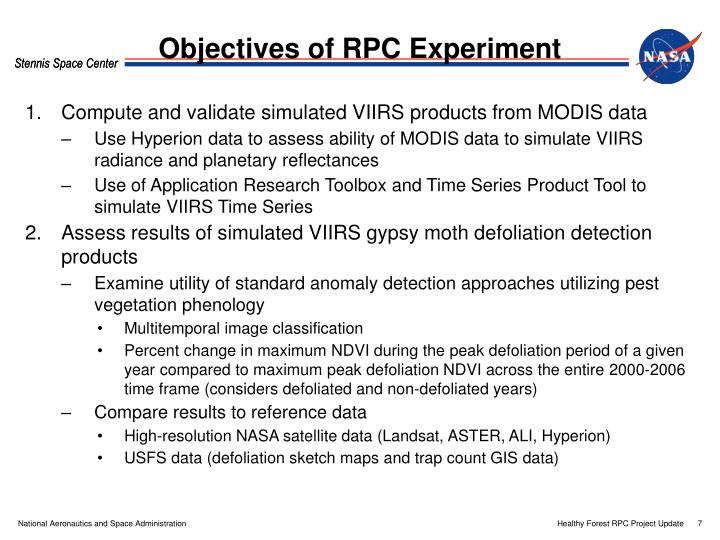 Objectives of RPC Experiment
