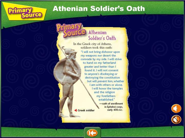 Athenian Soldier's Oath