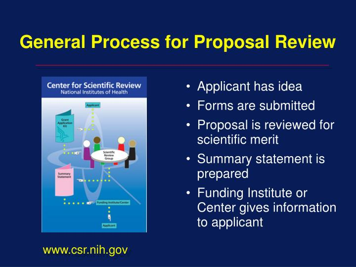 General Process for Proposal Review