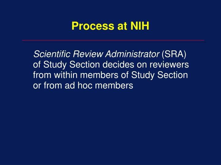 Process at NIH