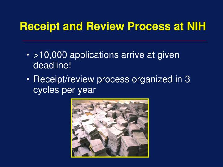 Receipt and Review Process at NIH