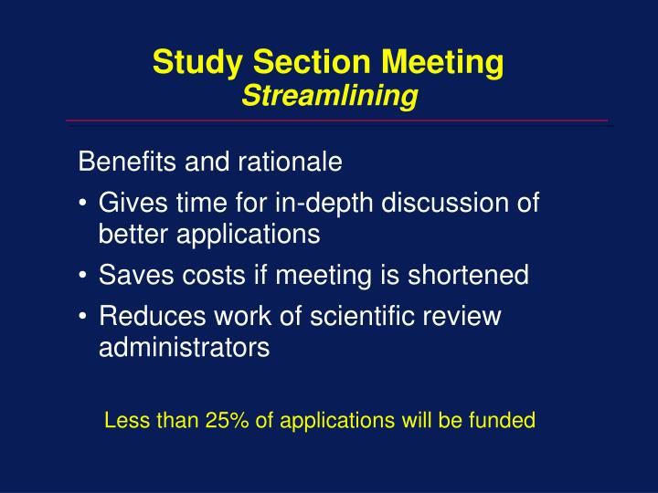 Study Section Meeting