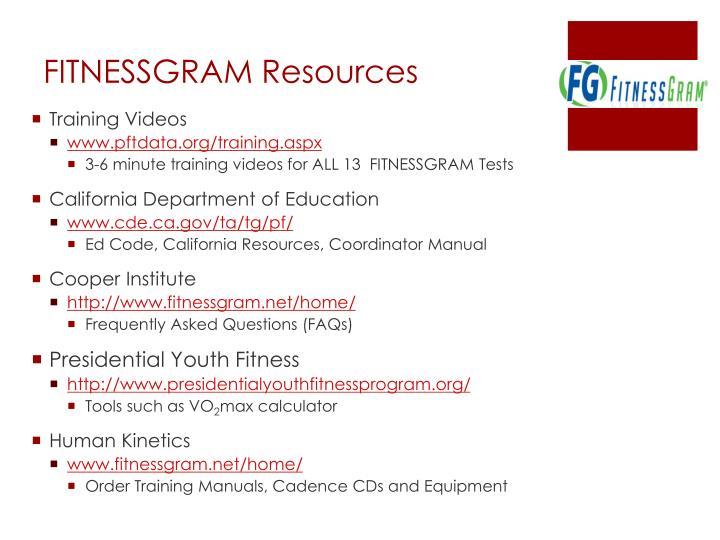FITNESSGRAM Resources