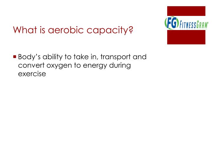 What is aerobic capacity?
